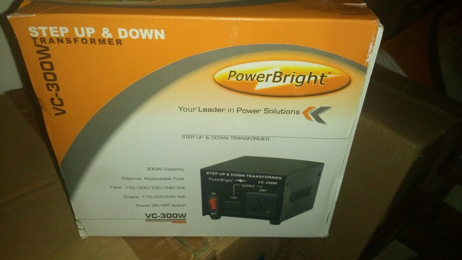 Power Bright Step UP and Down VC-300W Transformer