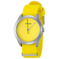 Nixon Mod Yellow Dial Yellow Nylon Strap Mens Watch A3481599