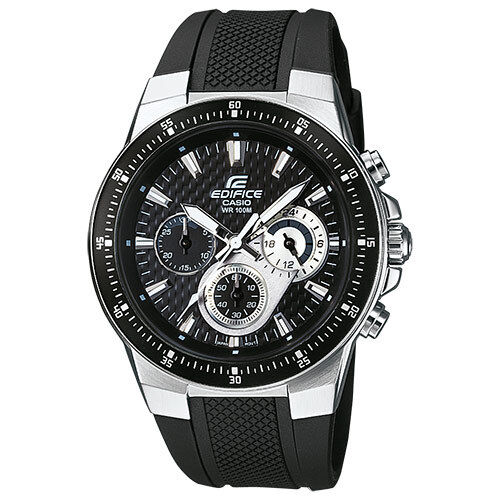 Casio Edifice Ef-552-1avef Man with Timer, in Steel and Rubber