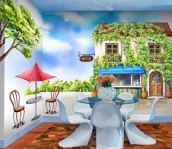 3D greene Rebe Hütte 96 Tapete Wandgemälde Tapete Tapeten Bild Familie DE