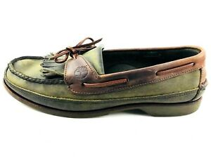 Details about Timberland Kiltie Tassel Boat Green Brown Shoes Mens Size US.8.5 UK.8 EU.41.5