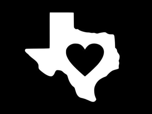 HEART TEXAS TEXAN Pride Vinyl Decal Car Truck Window Sticker CHOOSE SIZE COLOR