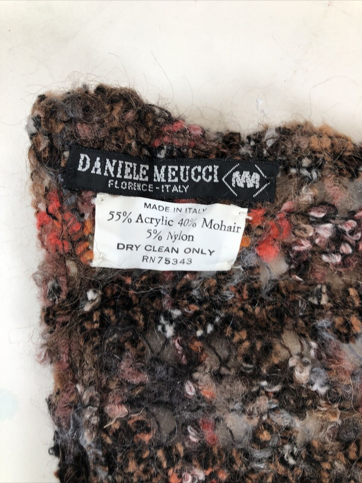 Daniele Meucci Scarf Womens Multicolored Mohair B… - image 3