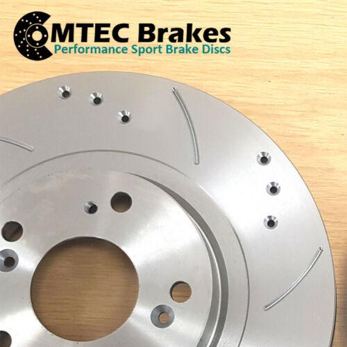 Toyota Supra 3.0 Twin Turbo JZA80 Drilled Grooved Front Brake Discs /& MTEC Pads