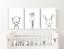 Neutre-Nursery-Decor-GRAVURES-Croquis-d-039-animaux-pour-enfants-Chambre-a-Coucher-Art miniature 2