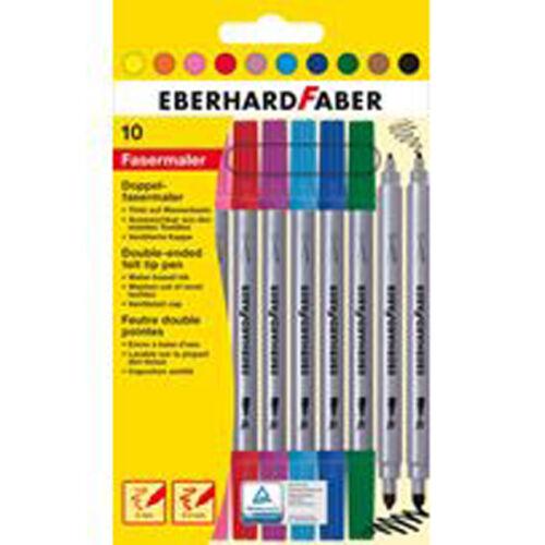 Eberhard Faber Doppelfasermaler 10er Pack Doppelmaler Filzstifte Malstifte