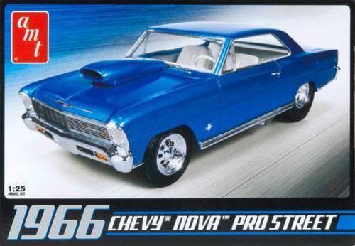 AMT 636  1966 Chevrolet Nova Pro Street plastic model car kit 1//25