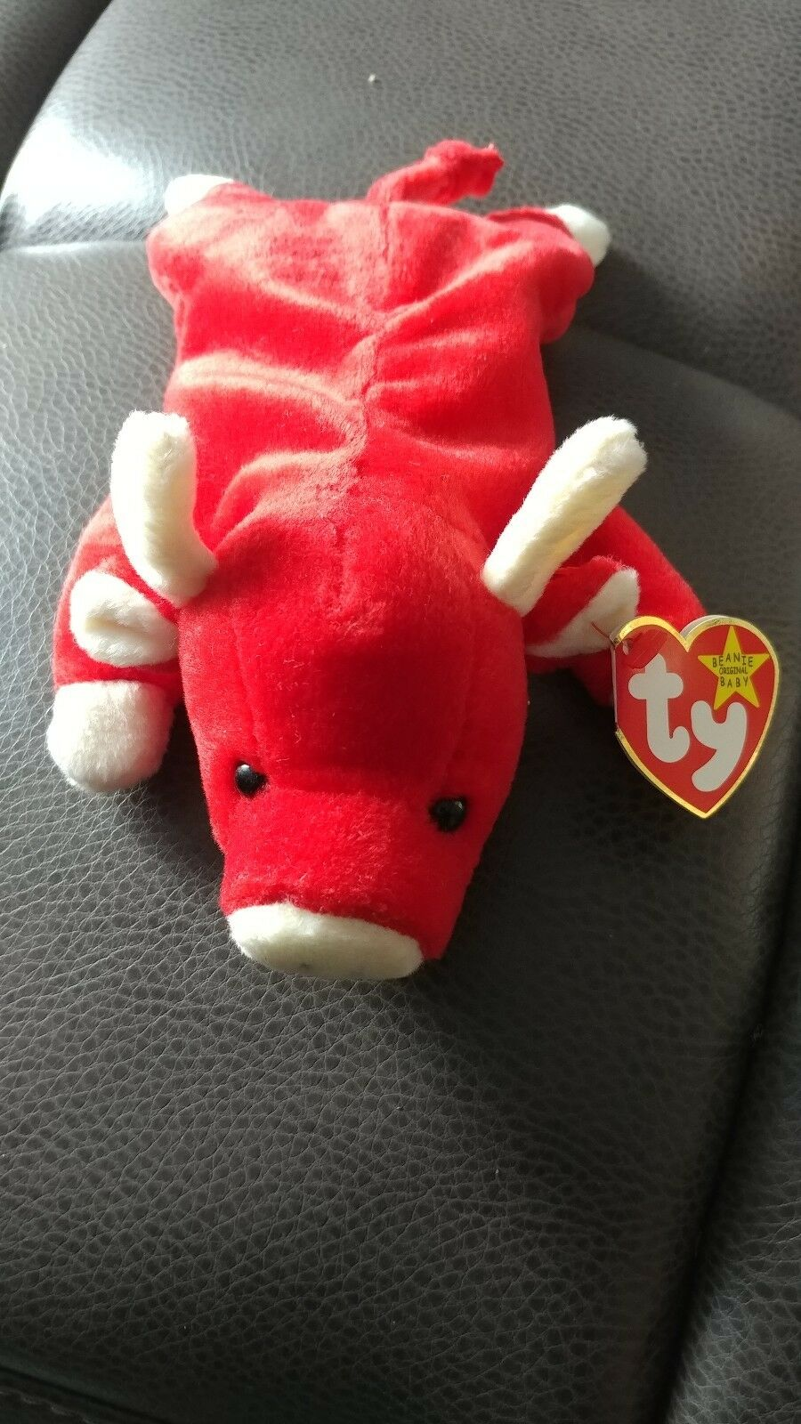 Extremely Rare  1st  SNORT 1995 TY INC Beanie Baby w 2 Swing Tag Errors PVC