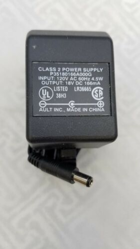 AC ADAPTER 18 VOLT DC 166MA POWER SUPPLY CARDINAL HEALTH 87-578 2.1MM-5.5MM PLG