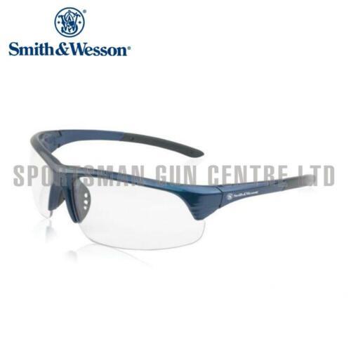 Smith And Wesson CAPORALE HALF FRAME Occhiali DA TIRO LENTE BLU frameclear