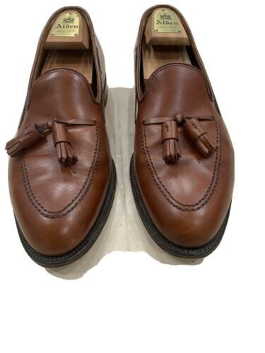 Alden Mens Shoes 10.5 tassel loafer tan used