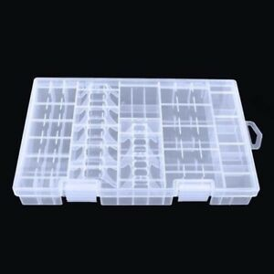 AAA-AA-C-D-9V-Battery-Transparent-Storage-Rack-Battery-Holder-Hard-Box-Plastic