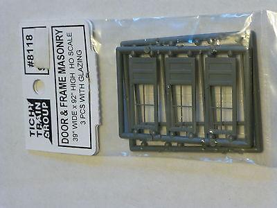 Tichy Train Group #8118 HO 4-Lite Factory Door w/glaze
