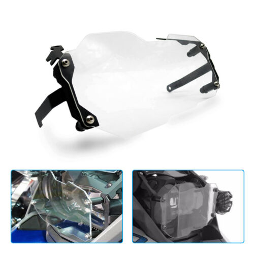 Transparent Headlight Protector Cover Grill For BMW R1200GS ADV 2013-2016 Steel