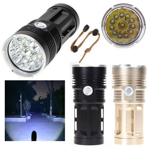 15000LM Zoomable XM-L T6 LED Flashlight Torch Super Bright Lighte Taschen lampe