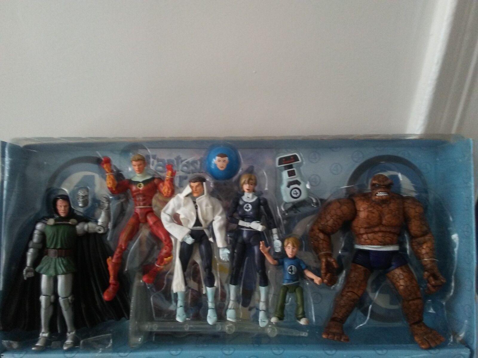 Marvel Legends Fantastic Four Action Figure set, Toy Biz 2000  70396