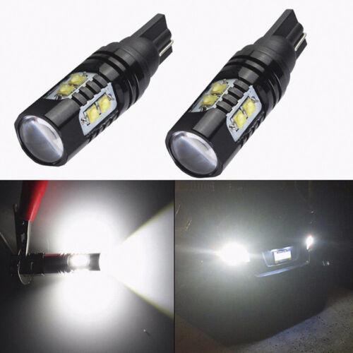 2Pcs 50W 921 912 T10 T15 LED 6000K HID White Car Backup Reverse Lights Bulb