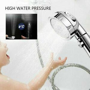 3in1 High Pressure Showerhead Handheld Shower Head Boosting ON//Off//Pause Setting