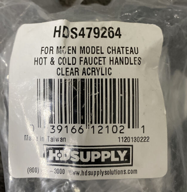 D Broach 795-9390 Kissler Delta Faucet Acrylic Hot//Cold Pair Handles