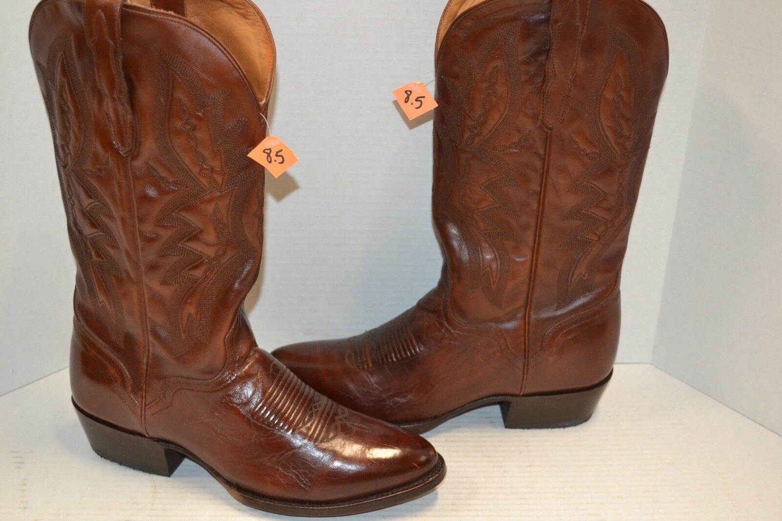 El Dorado HANDMADE Men's 8.5 EW Vanquished Calf Western COWBOY Boots ED1101 $360