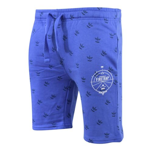 Firetrap Mens Jogger Shorts Bostall Jersey Casual Fleece Jogging Gym Pants