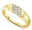 Men/'s 10K yellow gold white diamond band Channel Set Bague De Mariage Triple Row
