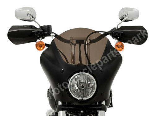 2X Chrome Metal Memphis Shades Hand Guards Guard for Harley Road King Road Glide