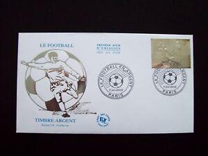 2010_enveloppe 1er Jour_fdc_le Football En Argent-timbre 5 € Argent.