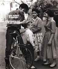 ELVIS PRESLEY Bicycle Photo RARE CANDID PIC signing an autograph for a fan