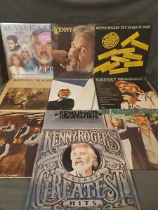 KENNY ROGERS Collection (Lot of 10) Vinyl Records Greatest Hits And More 33rpm