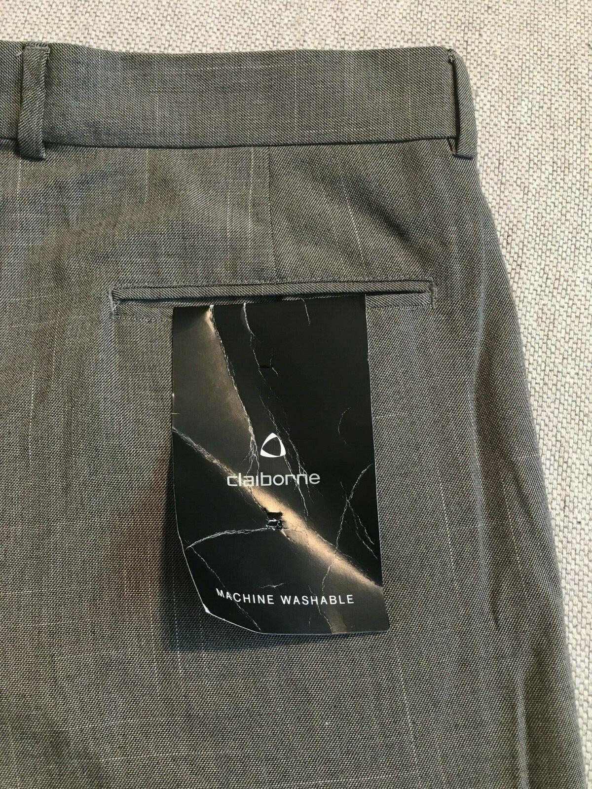 Caliborne Men's Pleated Front Dress Pants Folded Hem Sz 36x32  B2