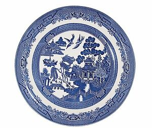 Image Is Loading Blue Willow Teaplates 17cm In Diameter Churchill China