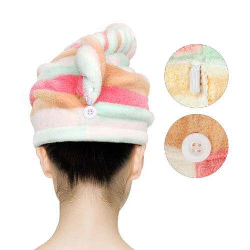 LARGE QUICK DRY MAGIC HAIR TURBAN TOWEL MICROFIBRE HAIR WRAP BATH TOWEL CAP HATS