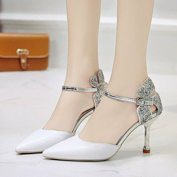 Shoes Bride Bridal Shoes Wedding Pumps Sandals Party Dance kunsleder 8cm S10 37