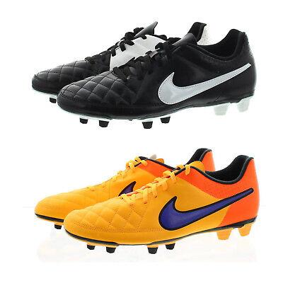 NIke TIEMPO RIO II FG Black White 631287-010 Soccer Men/'s Cleats