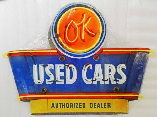 1950/'s OK Used Cars Authorized Dealer Plasma Cut Metal Sign