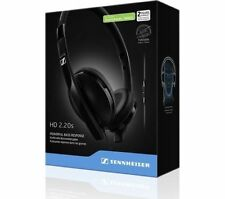 Sennheiser HD 2.20s On-Ear Closed Black Headphone With In-line Remote NEW