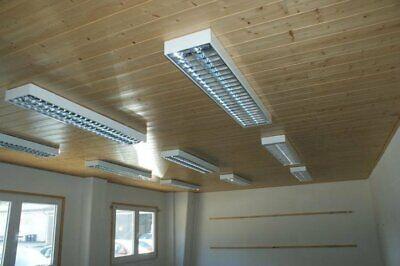 Business & Industrie Verantwortlich 1x Regiolux Deckenlampen Rasterleuchte Bürolampe Raster Anbauleuchte 2x58w Weiß