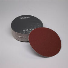 "BAOSTC 5"" no holes P80 PSA sanding disc,red aluminum oxide 50PACK"