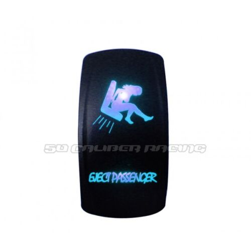 Eject Passenger Design Rocker Switch Waterproof Blue Illuminated 12V 24V On/Off