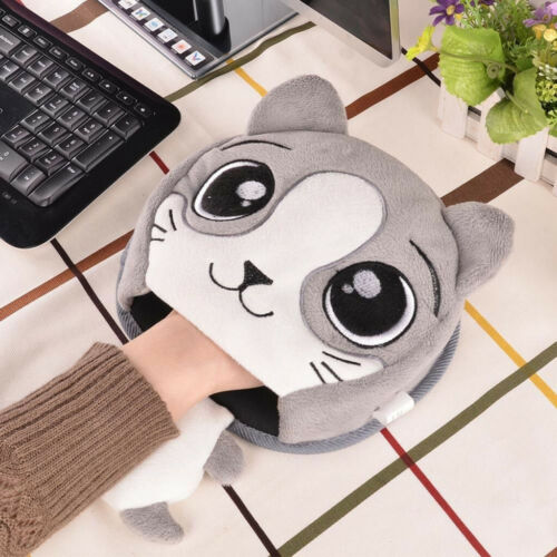 Cute Cartoon Animals USB Heated Mouse Pad Hand Warmer Mouse Pads with Wrist Guar