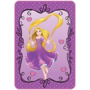 Disney Tangled There is More 62 x 90 Plush Twin Blanket Purple//Teal//Yellow
