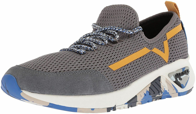 Diesel SKB S-Kby grigio giallo Mens Trainers scarpe