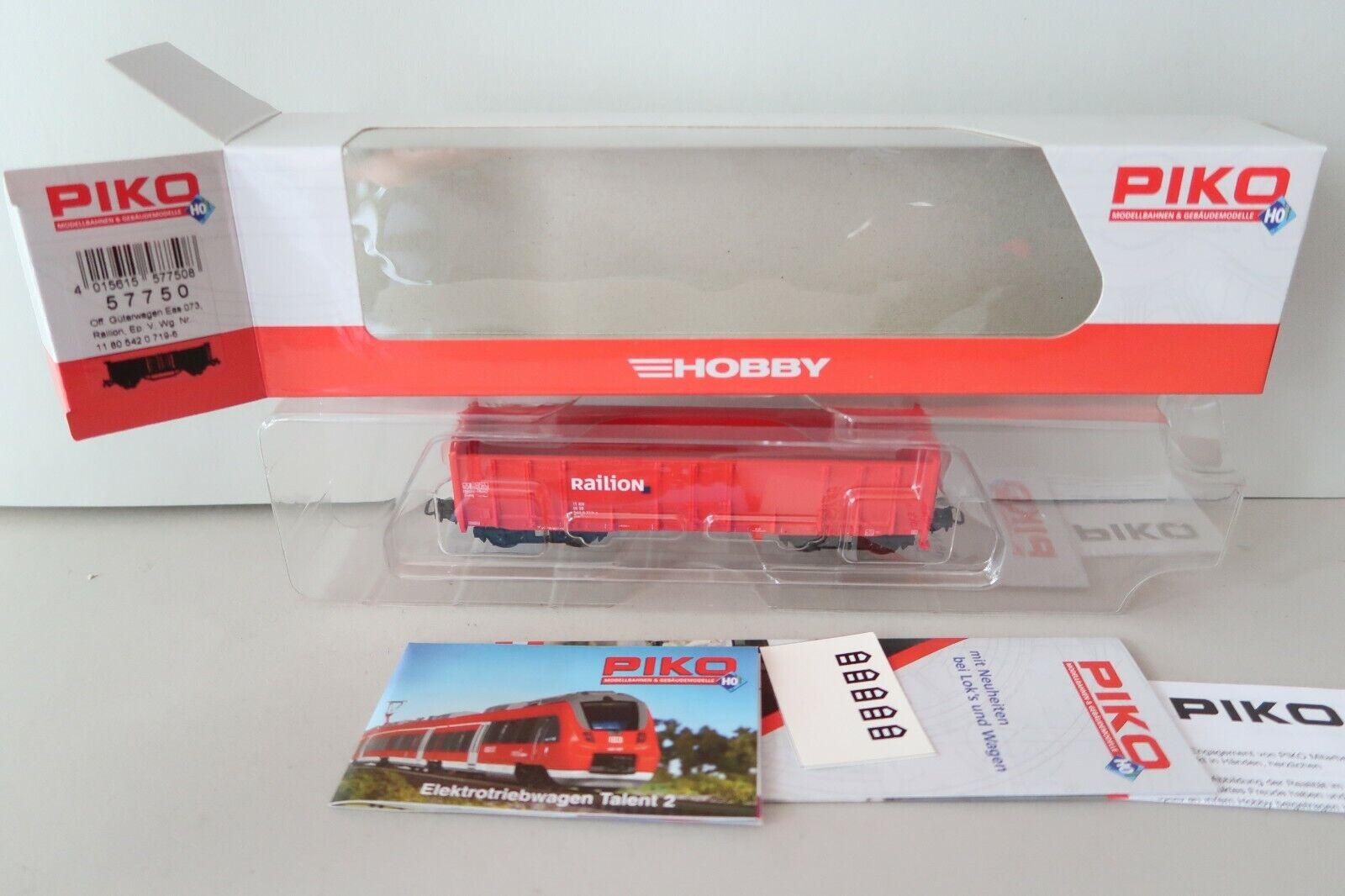 Hochbordwagen Eas Railion DB AG V HO Neuware Hobby Piko 57750