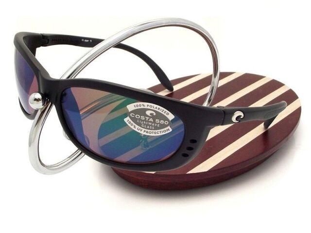 b1d602fbf868 Costa Del Mar Fishing Sunglasses Fathom Black Green Mirror 580 GLS ...