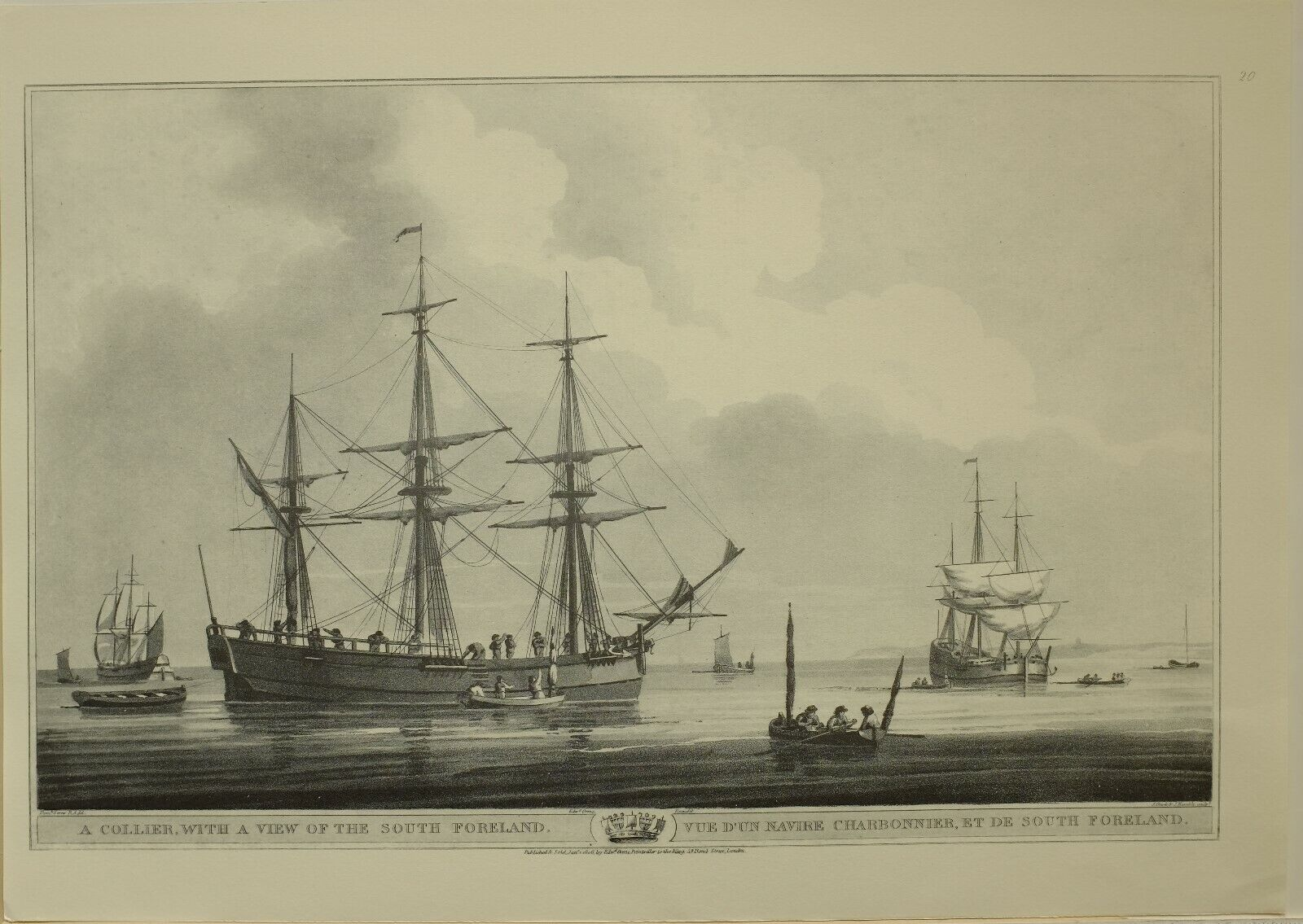 1805 Marine Aufdruck Collier View Of South Foreland  1979 Faksimile Liber