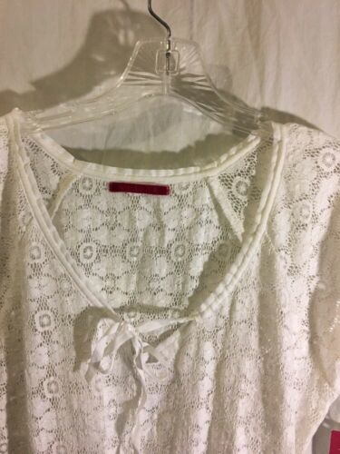 Graham White Velvet Style Lace Peplum Spencer Top Brand fUH5xqHA