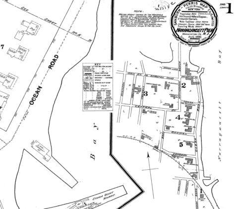 Narragansett Pier Rhode Island~Sanborn Map© sheets 1890 1910 with 13 maps~ CD