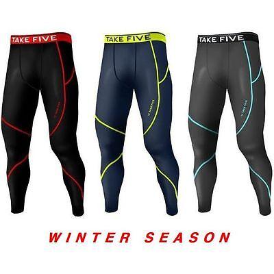 New Takefive_Men's Warm Compression Pants Sportswear Winter Warm underwear