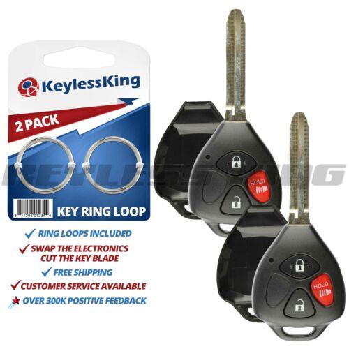 Fits 2006 2007 2008 2009 2010 2011 2012 Toyota Rav4 Remote Case HYQ12BBY 2x